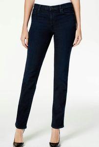 DKNY High Waist Straight Dark Wash Ankle Jeans